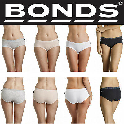 Bonds Girls Womens Youth Basics Hipster Boyleg Cotton Brief Underwear W0148Y