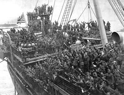 AMERICAN SOLDIERS WWI GLOSSY POSTER PICTURE PHOTO 1 world war ship usa happy 259