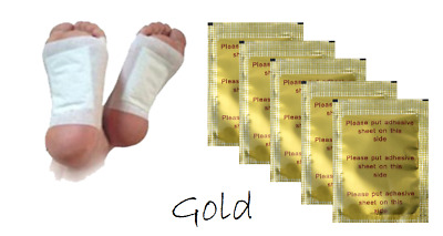 100 Detox Gold Vitalpflaster Foot Patch Energiepflaster Fusspflaster Entgiftung