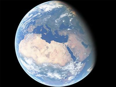 PLANET EARTH GLOSSY POSTER PICTURE PHOTO PRINT universe sun space globe 4151