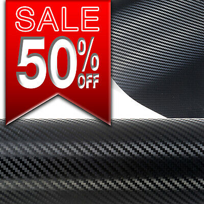 3D  4D Carbon  Fibre Vinyl Wrap Air/Bubble Free Black White Grey