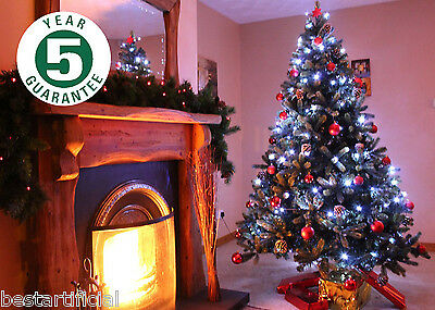 Best Artificial Luxury 6ft/180cm Hinged Christmas Tree Indoor Real Feel PE Tips