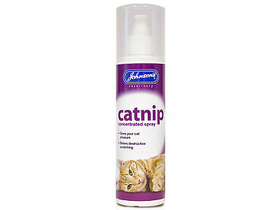 Johnsons Concentrated Catnip Spray Cat Kitten Fresh Cat Nip Drive Cats Crazy