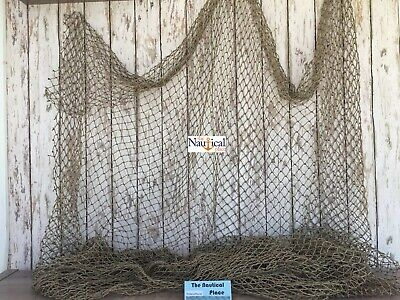 Authentic Used Fish Netting ~ 10' x 10' ~ Fishermans Net ~ Old Fisherman's Sea