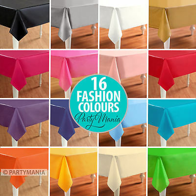 Wedding Party Tablecover Table Cover Cloth Plastic Tablecloth Birthday 16 Colour