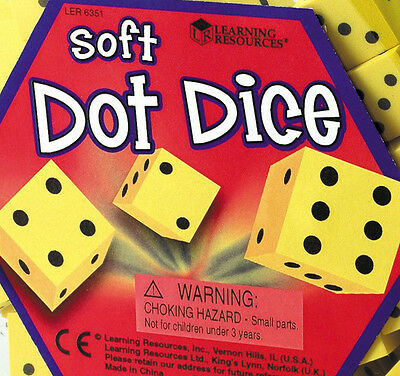 Learning Resources - 16mm Soft Foam Maths Dot Dice - Multi Quantity Listing