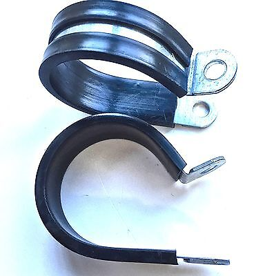 HOSE CLAMP P CLIPS - RUBBER LINED - CARBON STEEL- 3 mm To 110 mm - Buy 5 To 100