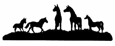 GROUP OF HORSES STANDING HORSE STICKER DECAL BRAND NEW FOR CAR,FLOAT,4WD #H244a