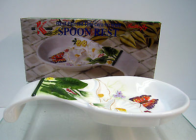 New Butterfly 3D Ceramic Utensil Spoon Rest Butterflies Spoons Rests