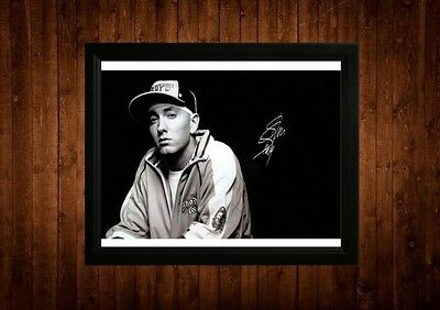 Eminem Signed Framed Pp A4 Print Gift Ideas Marshall Mathers Slim Shady Dr Dre