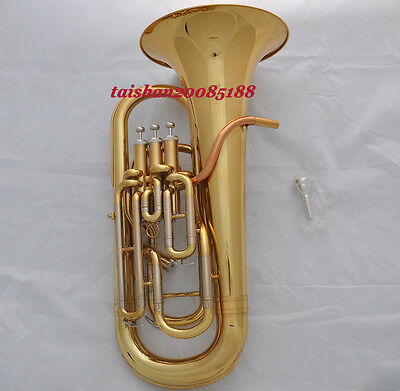 Prof WINNER Bb Compensating Gold Euphonium Cupronickel tuning Rose brass leadpip
