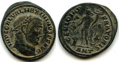 Bronze follis of Maximinus II as Augustus (309-313 AD), Antioch, Roman Empire