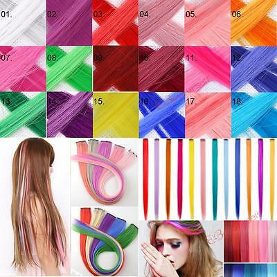 "Wholesale Rock Punk Style Straight Clip Hair Extension Hairpiece 20"" Multicolors"