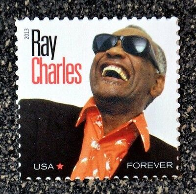 2013USA #4807 Forever Rate - Ray Charles Singer - Mint NH  music icon