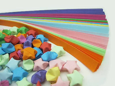 ORIGAMI LUCKY STAR PAPER Candy Colour (100 STRIPS)