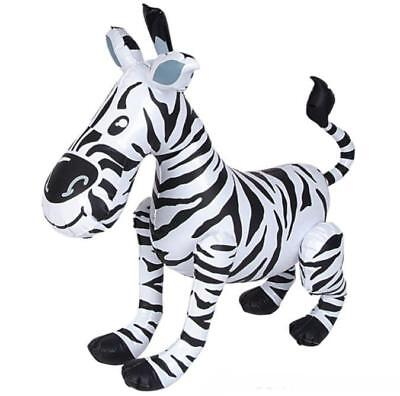 """24"""" Giant Inflatable Zebra Zoo Animal Inflate Blow Up Themed Kids Fun Party Toy"""