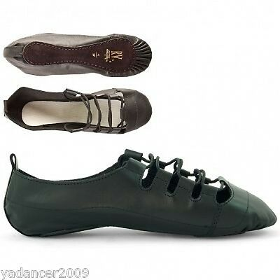 Irish Ghillie Scottish Highland Dance Shoes Pumps Leather Suede Sole Brigadoon