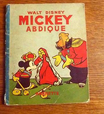 Disney MICKEY ABDIQUE Album Mickey n°17,  1939