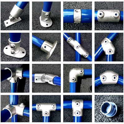 Pipe Clamp Handrail System - 42MM Fittings / Connectors - Kee Key Klamp Tube Q 3