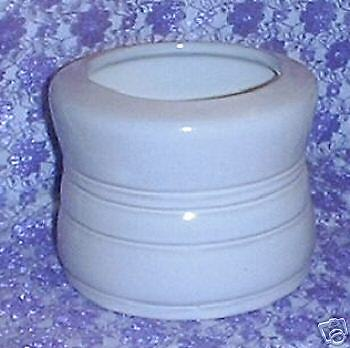 Frankoma WHITE SAND Grease Cannister 26G no Lid