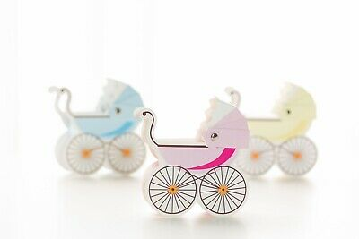 10x Pram Carriage Baby shower party favours bomboniere boxes thank you gifts