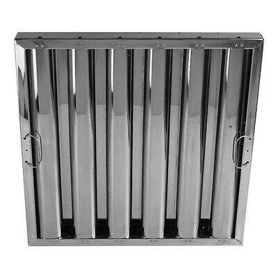 """Kleen-Gard Stainless Steel Baffle Grease Filter with Hooks  - 16""""H x 16""""W"""