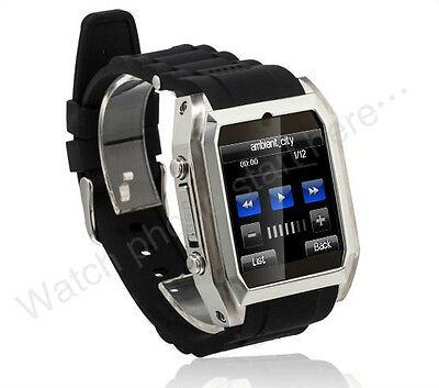 "1.54"" Cellphone Watch Camera Sport GSM Wrist Cell Phone Watch Unlocked 4 bands"