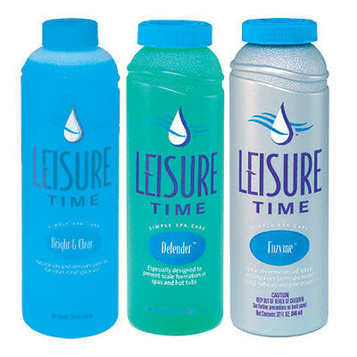 Leisure Time Spa Chemicals - Bright & Clear, Defender & Enzyme Value Pack