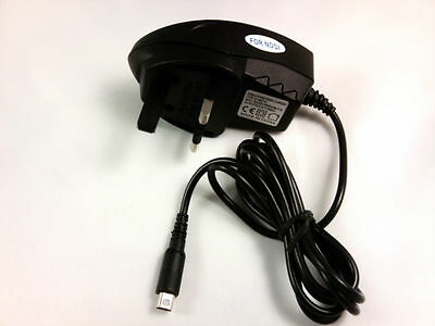 NEW 3 PIN UK MAINS CHARGER ADAPTER FOR NINTENDO DSi NDSi DSiXL XL DS i & 3DS