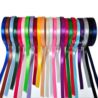 22m Ribbon For Craft Wedding Christmas Gift Box Satin Ribbon 6mm Roll 25 Yards