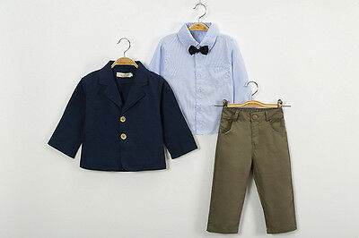 Boys 3 Piece Outfit-Set Smart,Casual Party Wedding Suit Ages 2YRS-6YRS SKU002