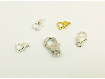 10 x Smooth HEART Sytle Trigger LOBSTER CLASP Connector Findings ~10mm / 12mm~