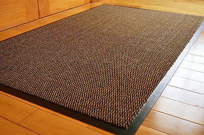 SMALL MEDIUM EXTRA LARGE BROWN BEIGE BLACK HEAVY DUTY BARRIER MAT NON SLIP RUGS
