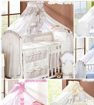 Coronet Canopy Drape / Mosquito Net BIG Fits Cot Bed - Check or Plain Pattern