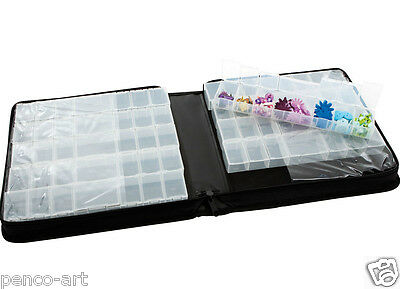 Papermania 70 compartment, black itty bitty craft embellishment organiser case