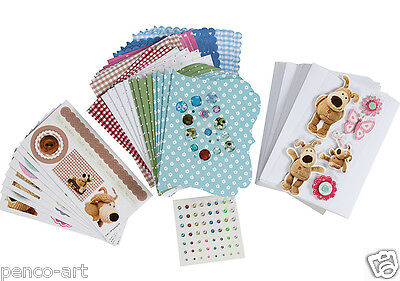 Boofle the knitted dog 158 piece Scrumptious kit for card making & scrapbooking