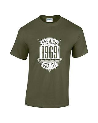 Aged To Perfection Born In 1969 50th Birthday/Gift Mens Printed T-Shirt