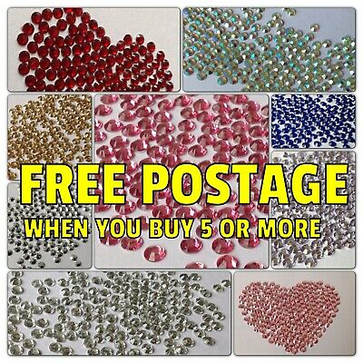 1500 High Quality Flat Back Rhinestones Gems 3mm, 4mm x 1200pcs, 5mm x1000pcs