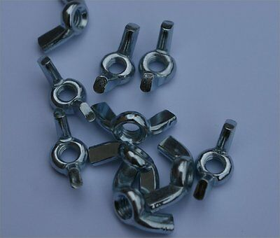 M6 Wing Nuts bzp -  x10 Pack - Wingnut