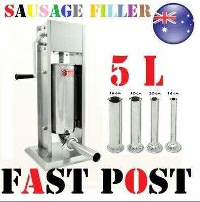 5L Sausage Filler Stuffer Stainless Steel Two Speed Adjustment Salami Maker