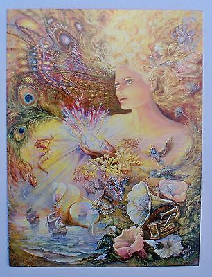 Josephine Wall 18x14cm Grußkarte Karte *Crystal of Enchantment* mit Text