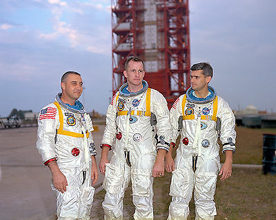 Apollo 1 Astronauts  Ed White Gus Grissom Roger Chafee 8X10 Glossy Photo Picture