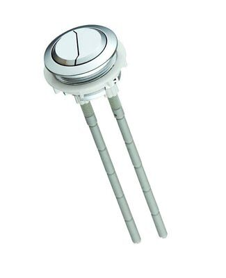 Large Universal Toilet Push Button Dual Flush LARGER 48mm Chrome