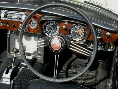 Fits Mg Mgb Gt 1965-1980 Black Italian Leather Steering Wheel Cover Best Quality
