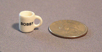 Miniature Mug, Dollhouse size, Personalized w name up to ten letters