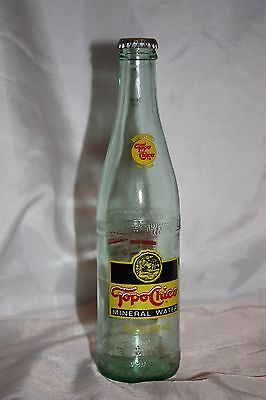 12 Oz. Topo Chico Mineral Water Bottle With Cap Made In Mexico
