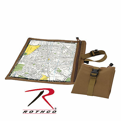 "New Rothco 9238 Waterproof Coyote Brown Map & Document Pouch/Case 13.5"" X 13.5"""