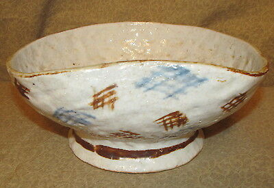 Vintage Japanese Studio Pottery Bowl Signed with Dragonfly
