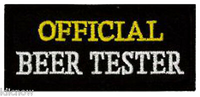"""GENUINE BEER DRINKER MADE IN THE U.K EMBROIDERED PATCH 5.5cm X 7cm 2/"""" X 2 3//4/"""""""