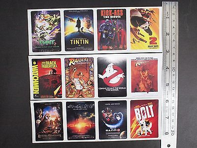 1 set of 12 stickers G SCALE BILLBOARD - Movie Poster stickers